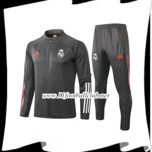 Nouveau Ensemble Veste Survetement Real Madrid Gris 2020/2021
