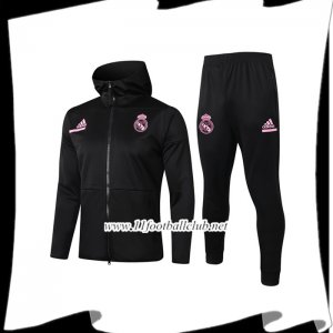 Le Nouveau Veste A Capuche Survetement Foot Real Madrid Noir 2020/2021