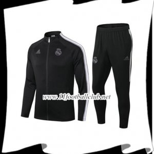 Nouveau Ensemble Veste Survetement Real Madrid Noir 2020/2021