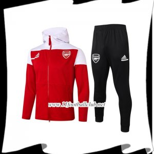 Le Nouveau Veste A Capuche Survetement Foot Arsenal Rouge 2020/2021