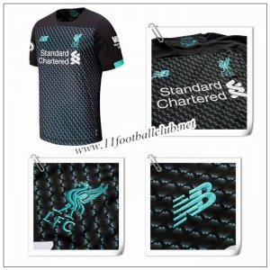 Le Nouveau Maillot du Liverpool Third Noir 2019/20 Authentic